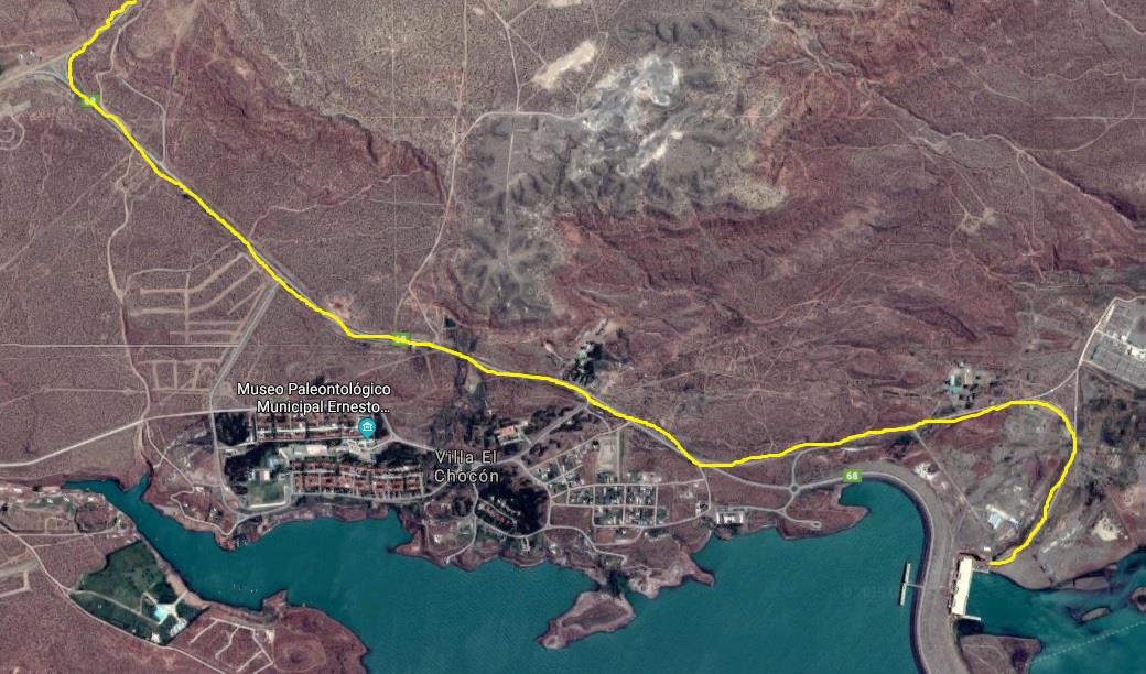 Tramo Salida desde C. Hidroeléctrica El Chocón hasta RN 237