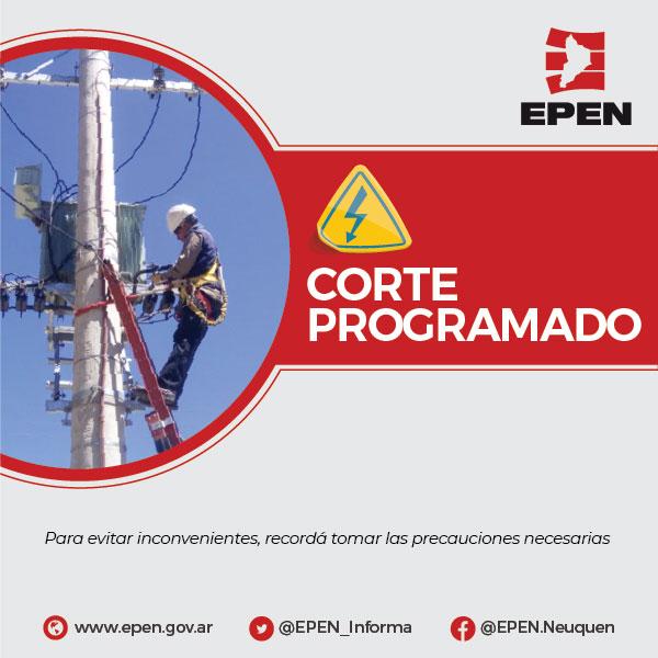 Corte de energía en Junín y San Martín de los Andes – 31/10/2021